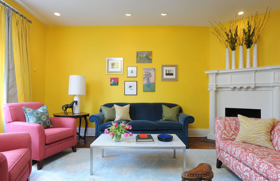 Покраска стен сочетание цветов фото