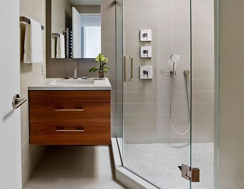 Дизайн настенной тумбы для ванной
