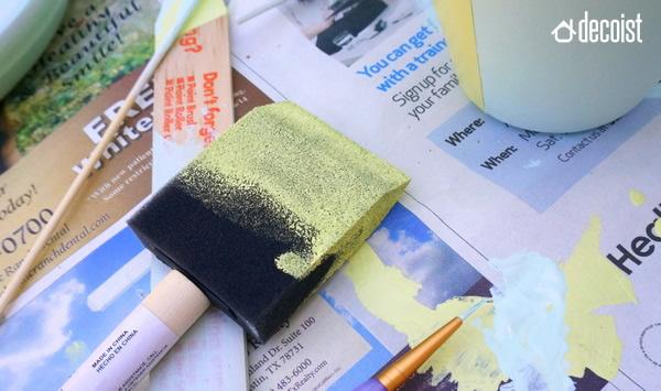 Colorear una maceta para hacerla única.