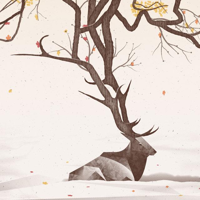 Программное искусство фотошоп на постере The Elk
