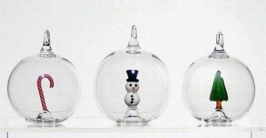 Уникальные рождественские украшения из стекла