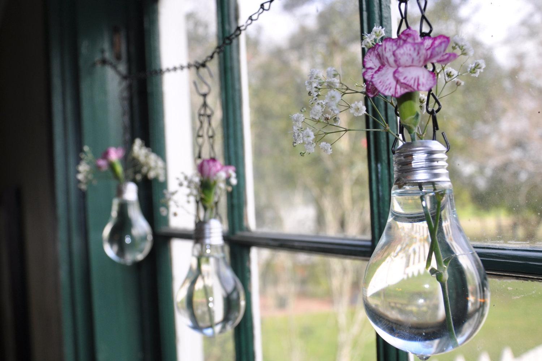 Лампы из цветов своими руками