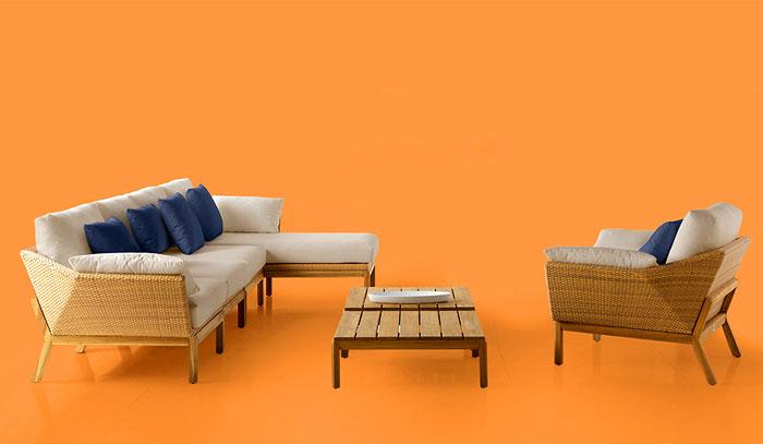 Уличная садовая мебель: плетёный каркас мебели