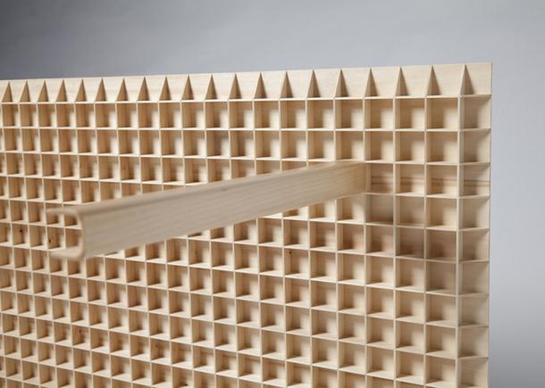Деревянная решетка, как опора для столешницы