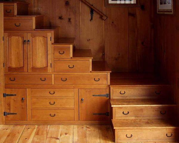 Дизайн организации места под лестницей