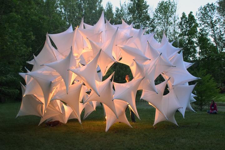 Постиндустриально-цифровой дизайн павильона Underwood pavilion