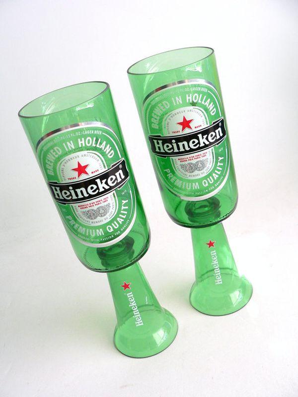 Красивые самодельные подсвечники из пивных бутылок