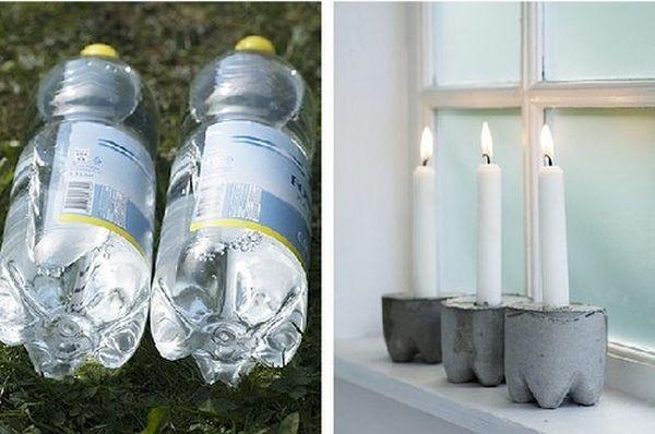 Подсвечник в форме бутылки