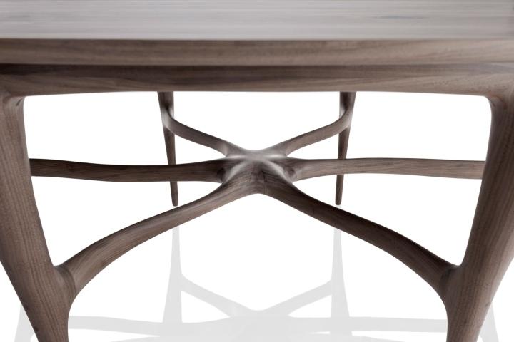 Прекрасная форма стола из коллекции мебели Organic