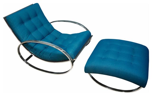 Кресло со скамьей из коллекции мебели от Milo Baughman