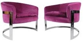 Красивые яркие кресла из коллекции мебели от Milo Baughman
