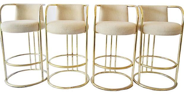 Уникальные барные стулья из коллекции мебели от Milo Baughman
