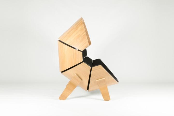 Боковой вид кресла Hideaway от Think & Shift