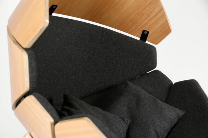 Внутренний материал кресла Hideaway от Think & Shift