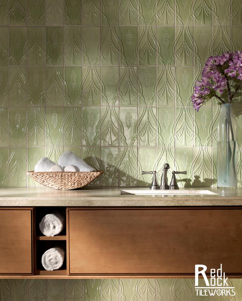 Ванная комната в стиле ар-нуво