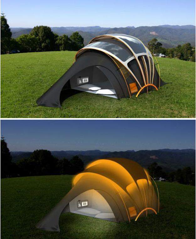Палатка на батарейках