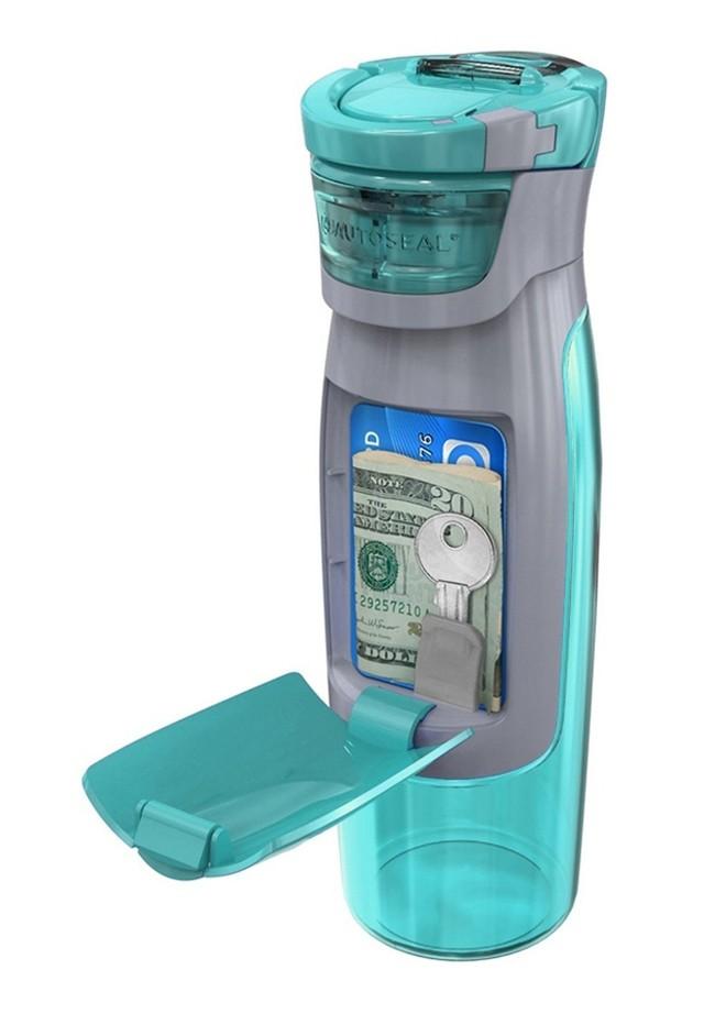 Бутылка для воды с местом для хранения денег