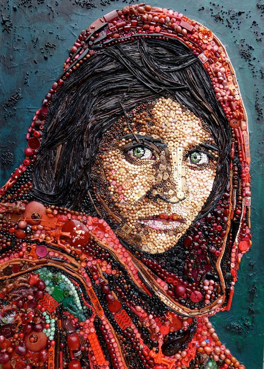 Необычная картина с изображением красивой девушки