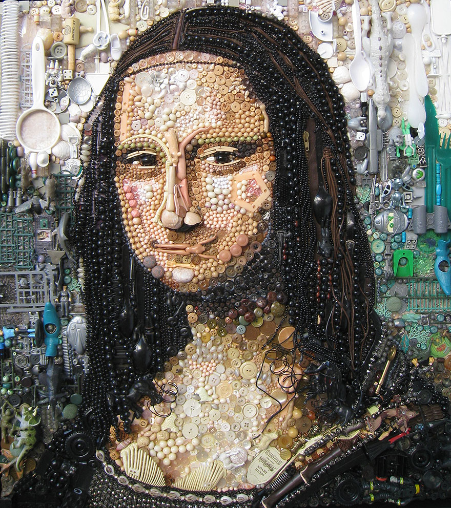 Необычная картина с изображением Мона Лизы