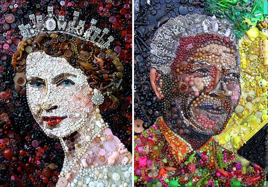 Красивая картина с изображением знаменитых людей