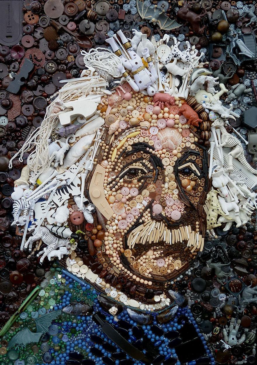 Креативная картина с изображением Альберта Энштейна
