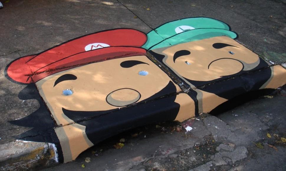 Ливневые стоки, украшенные художниками Anderson Augusto и Leonardo Delafuente