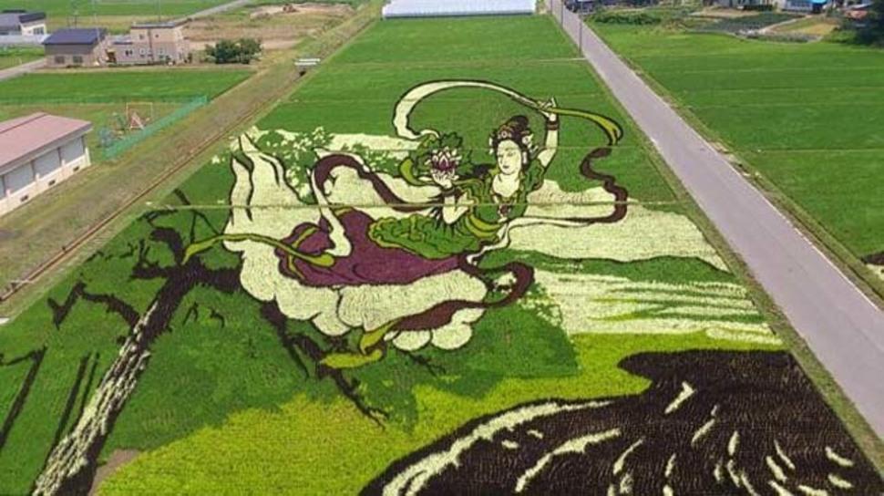 Японская живопись на поле