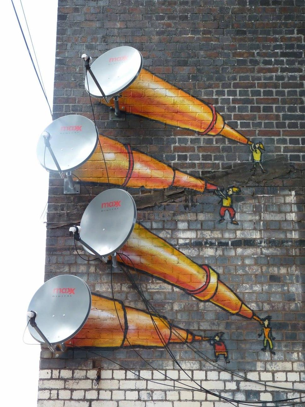 Украшенные спутниковые антенны