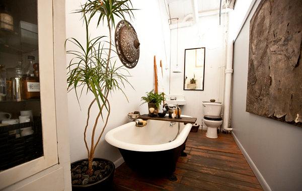 Шикарный интерьер ванной в стиле лофт