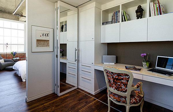 Чудный интерьер кабинета в стиле лофт
