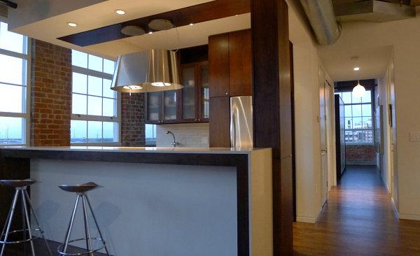 Шикарный интерьер кухни в стиле лофт