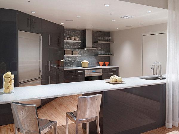 Прекрасный интерьер кухни в стиле лофт