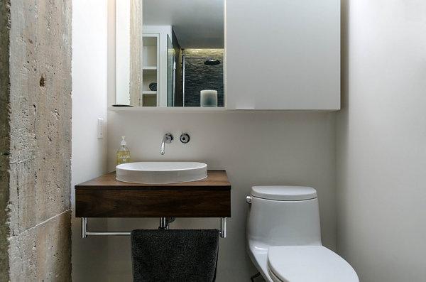 Замечательный интерьер ванной в стиле лофт