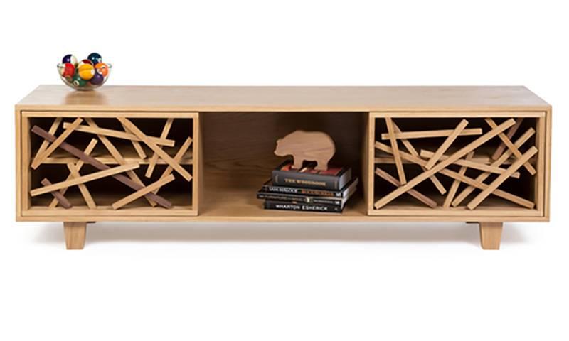 Устойчивый дизайн: оригинальная деревянная тумба