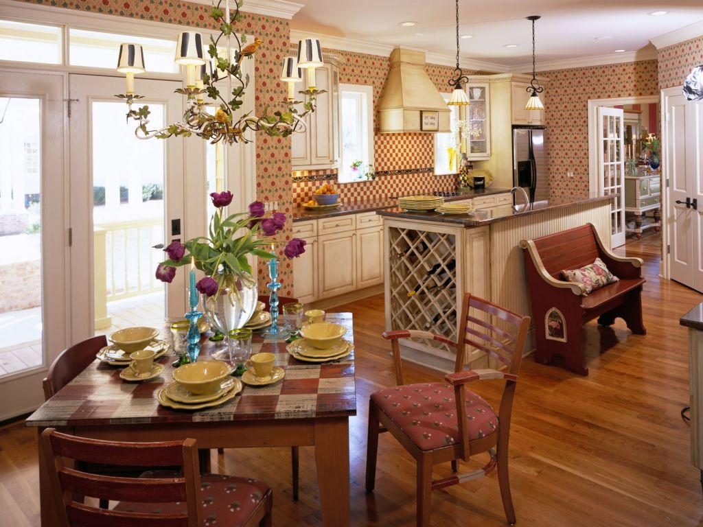 Красивые стены на кухне
