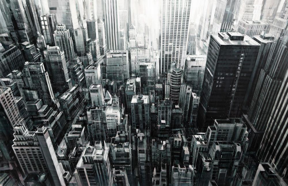 Динамичные городские пейзажи от Валерио Д'Оспина
