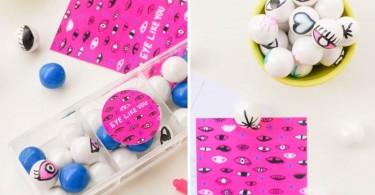 Фотоколлаж: съедобные шарики-валентинки от Gumball