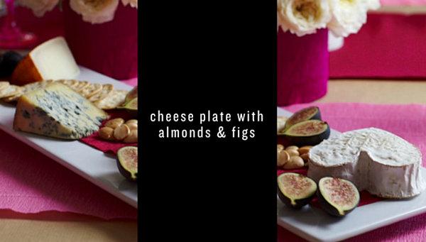 Тарелка с закусками для праздничного фуршета