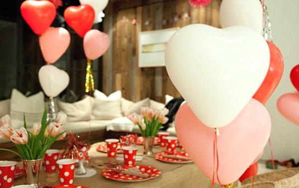 Праздничные шары ко Дню Святого Валентина