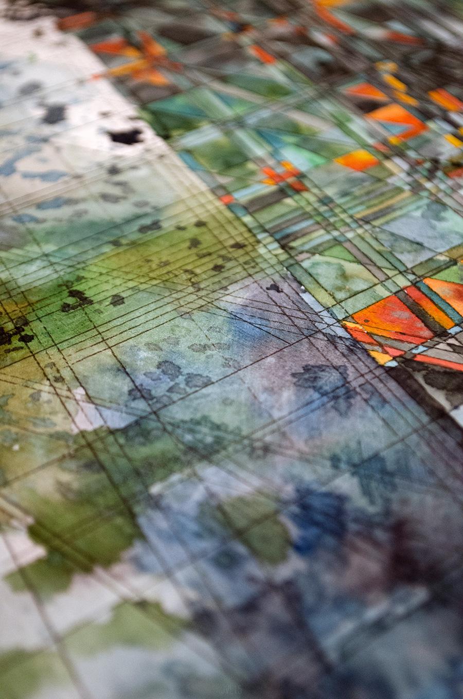 Якоб ван Лун: геометрические абстракции архитектурных акварелей