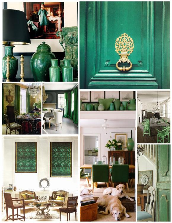 Применения зеленого в оформлении интерьера