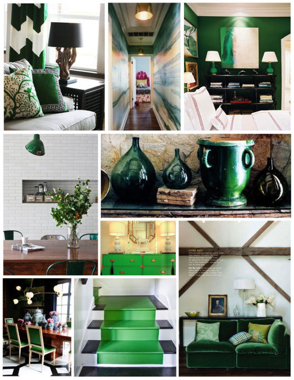 Предметы декора зеленого цвета