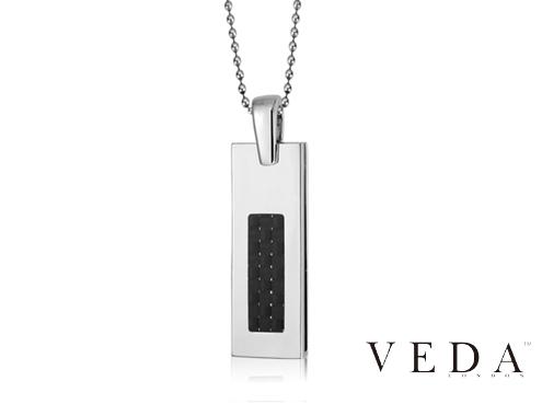 Ювелирная флешка Veda с чёрными камнями
