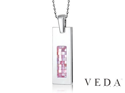 Ювелирная флешка Veda с розовыми камнями