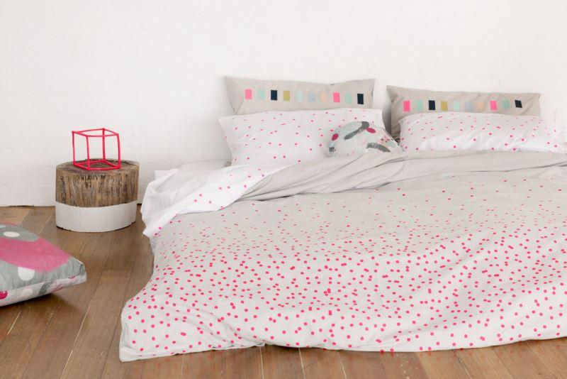 Декор постельного белья: узор в стиле конфетти