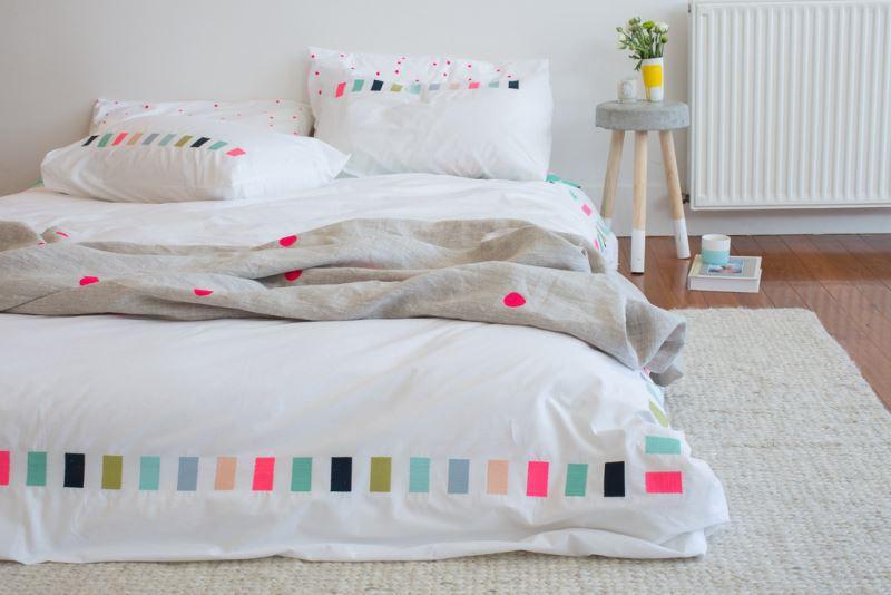 Декор постельного белья с геометрическими узорами