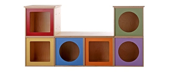 Creative fantasies with a geometric bias: original furniture for children's rooms from Via Boxes