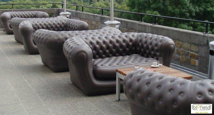 Виды необычных надувных диванов: диваны в коричневом цвете