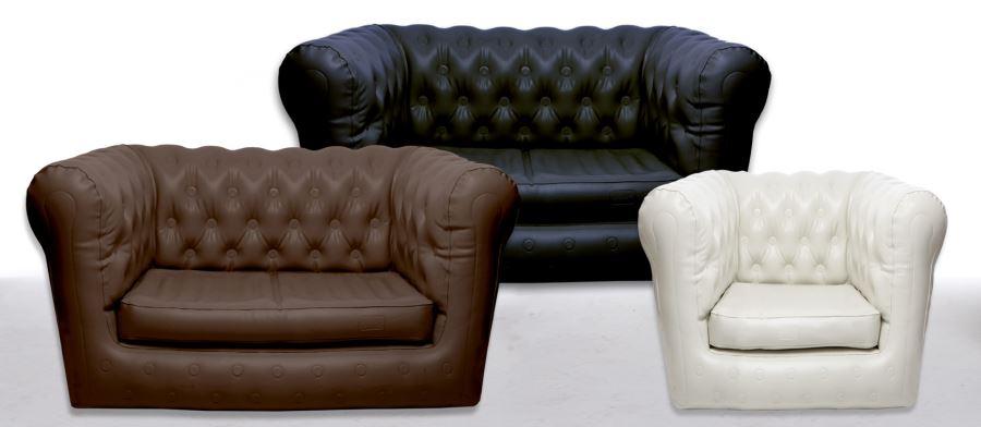 Виды необычных надувных диванов: диваны от Sofair