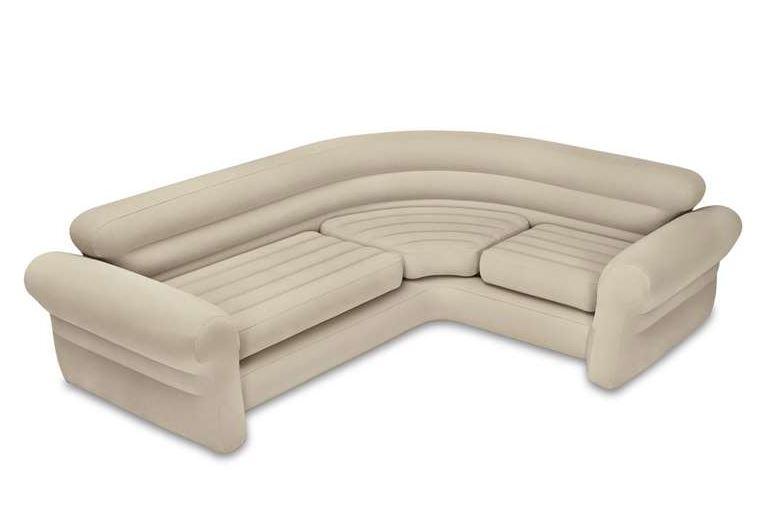 Виды необычных надувных диванов: диван белого цвета